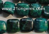 CCS659 15.5 inches 15*15mm square dyed chrysocolla gemstone beads
