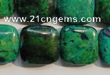 CCS672 15.5 inches 20*20mm square dyed chrysocolla gemstone beads