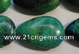 CCS695 15.5 inches 20*30mm flat teardrop dyed chrysocolla beads
