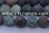 CCS763 15.5 inches 10mm round matte natural chrysocolla beads