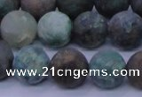CCS764 15.5 inches 12mm round matte natural chrysocolla beads