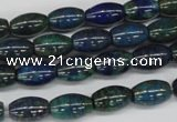 CCS79 15.5 inches 8*12mm rice dyed chrysocolla gemstone beads