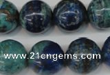 CCS81 15.5 inches 18mm round dyed chrysocolla gemstone beads