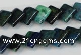 CCS88 15.5 inches 12*12mm diamond dyed chrysocolla gemstone beads