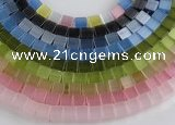 CCT11 Different color 6mm cube-shaped cats eye beads Wholesale