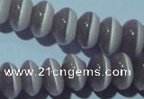 CCT272 15 inches 5*8mm rondelle cats eye beads wholesale