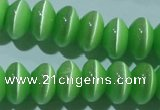 CCT289 15 inches 5*8mm rondelle cats eye beads wholesale