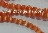 CCT309 15 inches 4mm faceted round cats eye beads wholesale