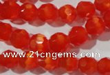 CCT355 15 inches 6mm faceted round cats eye beads wholesale