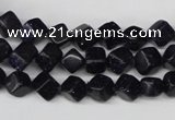CCU106 15.5 inches 6*6mm cube blue goldstone beads wholesale
