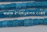 CCU303 15.5 inches 4*4mm cube imitation turquoise beads wholesale