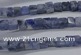 CCU314 15.5 inches 4*4mm cube sodalite beads wholesale