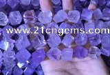 CCU400 15.5 inches 8*10mm - 14*16mm cube lavender amethyst beads