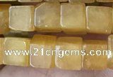 CCU481 15.5 inches 6*6mm cube yellow aventurine beads wholesale