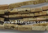 CCU501 15.5 inches 4*13mm cuboid desert jasper beads wholesale