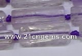 CCU601 15.5 inches 8*20mm - 10*30mm cuboid amethyst beads