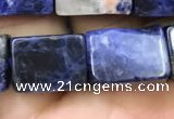 CCU651 15.5 inches 10*14mm - 11*15mm cuboid sodalite beads