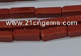 CCU727 15.5 inches 4*13mm cuboid goldstone beads wholesale