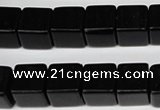CCU82 15.5 inches 12*12mm cube black agate beads wholesale