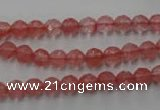 CCY111 15.5 inches 6mm faceted round cherry quartz beads wholesale