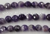 CDA151 15.5 inches 6mm faceted round dogtooth amethyst beads