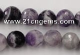 CDA154 15.5 inches 12mm faceted round dogtooth amethyst beads