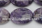 CDA303 15.5 inches 22*30mm oval dyed dogtooth amethyst beads