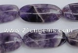 CDA35 15.5 inches 13*28mm oval dogtooth amethyst beads