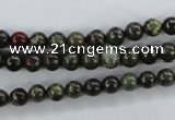 CDB250 15.5 inches 6mm round natural dragon blood jasper beads
