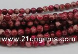 CDE01 15.5 inches 4mm round dyed sea sediment jasper beads