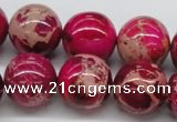 CDE05 15.5 inches 18mm round dyed sea sediment jasper beads