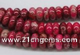 CDE07 15.5 inches 5*10mm rondelle dyed sea sediment jasper beads