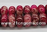 CDE08 15.5 inches 10*16mm rondelle dyed sea sediment jasper beads