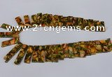 CDE1008 Top drilled 9*15mm - 10*45mm sticks sea sediment jasper beads