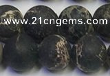 CDE1048 15.5 inches 10mm round matte sea sediment jasper beads