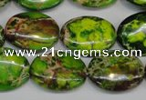 CDE118 15.5 inches 15*20mm oval dyed sea sediment jasper beads