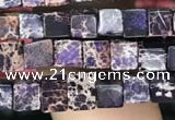 CDE1201 15.5 inches 4.5mm - 5mm cube sea sediment jasper beads