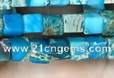 CDE1203 15.5 inches 4.5mm - 5mm cube sea sediment jasper beads
