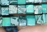 CDE1207 15.5 inches 4.5mm - 5mm cube sea sediment jasper beads