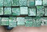 CDE1208 15.5 inches 4.5mm - 5mm cube sea sediment jasper beads