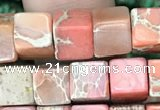 CDE1210 15.5 inches 6mm - 6.5mm cube sea sediment jasper beads