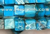 CDE1214 15.5 inches 6mm - 6.5mm cube sea sediment jasper beads
