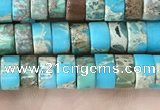 CDE1233 15.5 inches 3*6mm heishi sea sediment jasper beads
