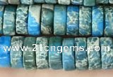 CDE1240 15.5 inches 3*8mm heishi sea sediment jasper beads