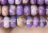 CDE1262 15.5 inches 4*6mm rondelle sea sediment jasper beads