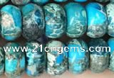 CDE1273 15.5 inches 5*8mm rondelle sea sediment jasper beads