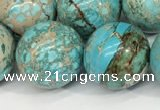 CDE1372 15.5 inches 16mm round sea sediment jasper beads wholesale