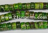 CDE138 15.5 inches 4*8mm heishi dyed sea sediment jasper beads