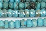 CDE1395 15.5 inches 2.5*4mm faceted rondelle sea sediment jasper beads