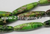 CDE146 15.5 inches 8*30mm rice dyed sea sediment jasper beads